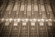 Mixer DJ vintage Royalty Free Stock Images