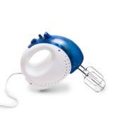 Mixer elektrisch die blauw op witte achtergrond wordt geïsoleerd Stock Foto