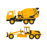 Mixer and grader. In vector format eps10 Stock Image