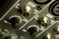 Mixer Inputs Royalty Free Stock Image