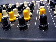Mixer Knobs Royalty Free Stock Photo
