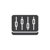 Mixer, levels icon vector. Filled flat sign, solid pictogram isolated on white. Symbol, logo illustration. Pixel perfect Royalty Free Stock Image