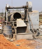 Mixer machine for mixing stone, cement and sand Stock Image