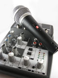 Mixer and Microphone Stock Image