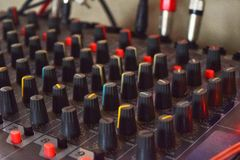 Mixer. Music sound engineer mixer Stock Photos