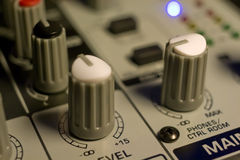 Mixer Panel Royalty Free Stock Photo