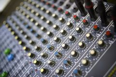 Mixer panel Royalty Free Stock Photo