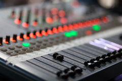 Mixer pult Stock Image