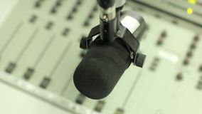 Mixer in the radio Studio stock video footage