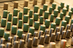 Mixer In A Recording Studio Stock Photo