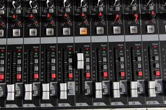 Mixer sound control panel Stock Images