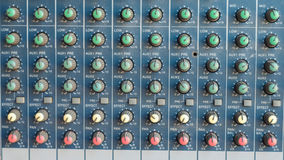 Mixer for sound engineer with many button to adjust Royalty Free Stock Photos