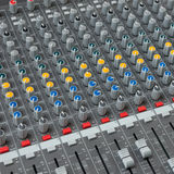 The mixer. This mixer is used to mix the melodic music vector illustration