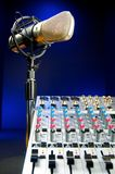 Mixer and  Vocal Mic Stock Image