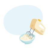 Mixer whipped cream Stock Photos