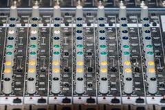 Mixerbord lizenzfreies stockfoto