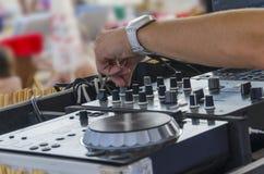 Mixette του DJ στοκ εικόνες με δικαίωμα ελεύθερης χρήσης