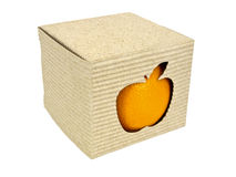 Mixing apples and oranges box Stock Images