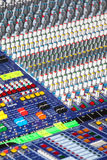 Mixing Audio Console Royalty Free Stock Photo