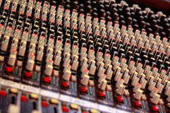Mixing Board 2. This is what really controls a concert Royalty Free Stock Images