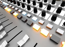 Mixing board Royalty Free Stock Photography