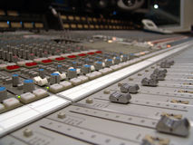 Mixing board. 24 channel SSL mixing board Stock Photos