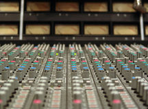 Mixing board. 24 channel SSL mixing board Stock Image