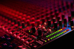 Mixing board at a concert Stock Image