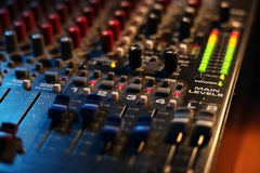 Mixing board at a concert Royalty Free Stock Photos