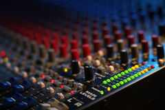 Mixing board at a concert Stock Photography