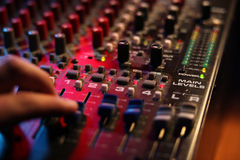 Mixing board at a concert Royalty Free Stock Images
