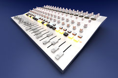 Mixing board Royalty Free Stock Image