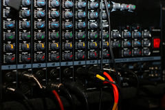 Mixing board, detail Stock Images