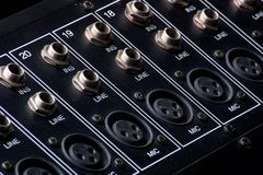 Mixing Board Inputs Stock Images