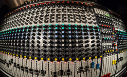 Mixing Board _ Logos removed. Mixing Board in a recording studio _ Logos Removed Stock Photos