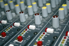 Mixing Board Panning Knobs stock photo