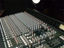 Mixing Board Sliders and Knobs royalty free stock photos