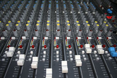 Mixing Board Wide View Royalty Free Stock Photos