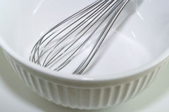 Mixing Bowl and Wire Whisk Stock Photo
