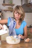 Mixing the cake dough Stock Image