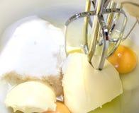Mixing cake ingredients. Royalty Free Stock Photo