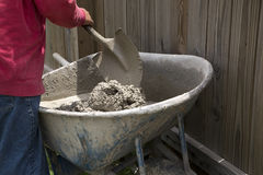 Mixing cement Stock Images