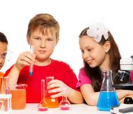 Mixing chemistry Royalty Free Stock Photos