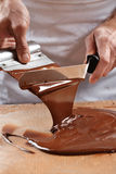 Mixing Chocolate Cream Royalty Free Stock Photo