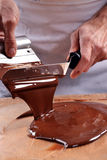 Mixing Chocolate Cream Royalty Free Stock Photography