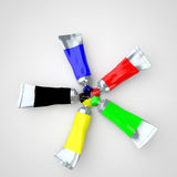 Mixing Color Tubes Stock Images