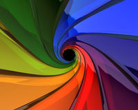 Mixing colors. Of the rainbow royalty free illustration