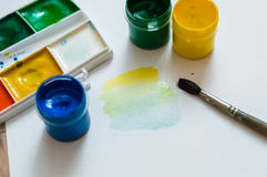 Mixing colors Royalty Free Stock Image