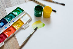 Mixing colors Royalty Free Stock Photography