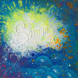 Mixing colours artwork Royalty Free Stock Images